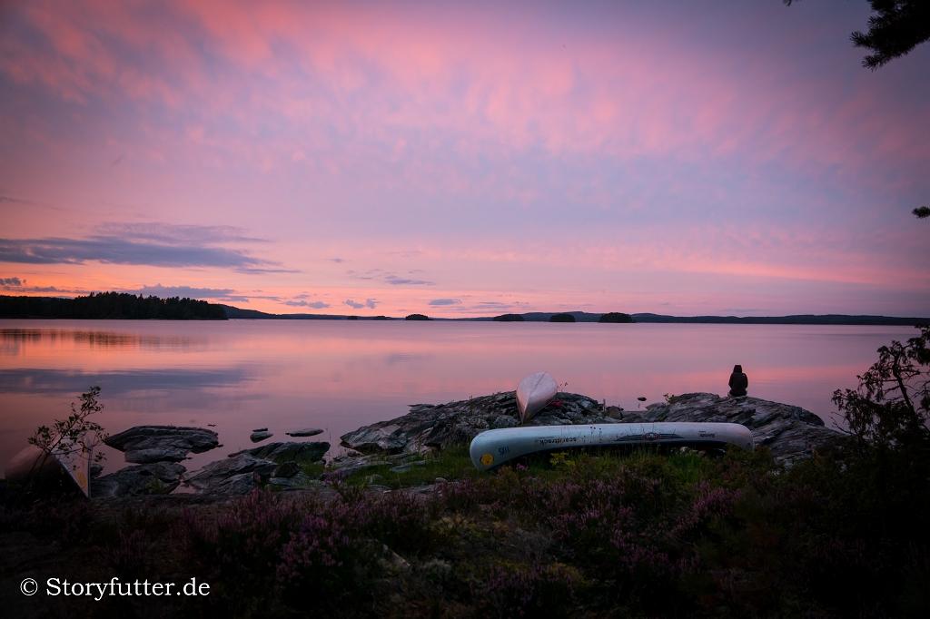 Kanutour Schweden: Einsamer Wolf am Foxen