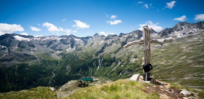 Das Maltatal in Kärnten: Blick vom Winterleitenkopf auf den Gößkarspeicher
