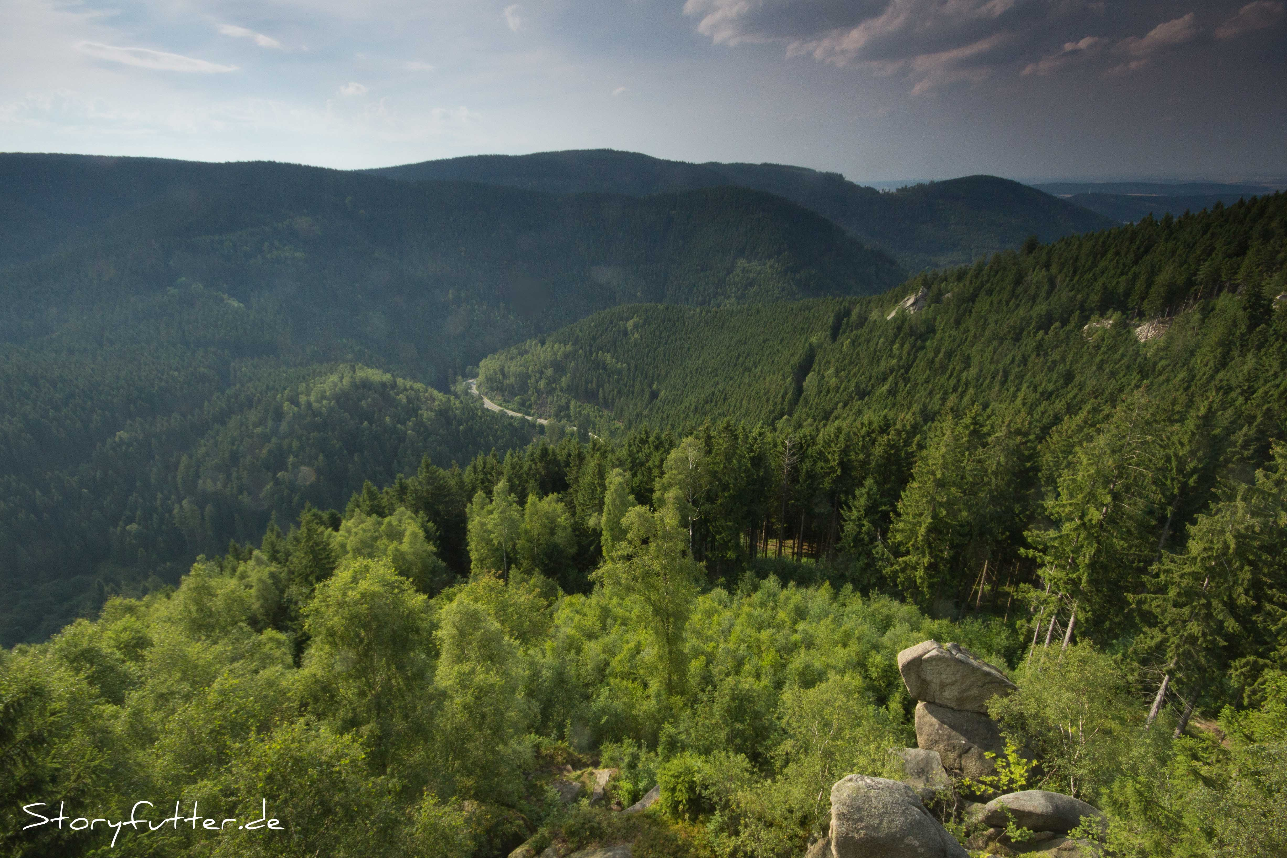 Aussichtsklippen Harz Backpacking Kästeklippen Okertal