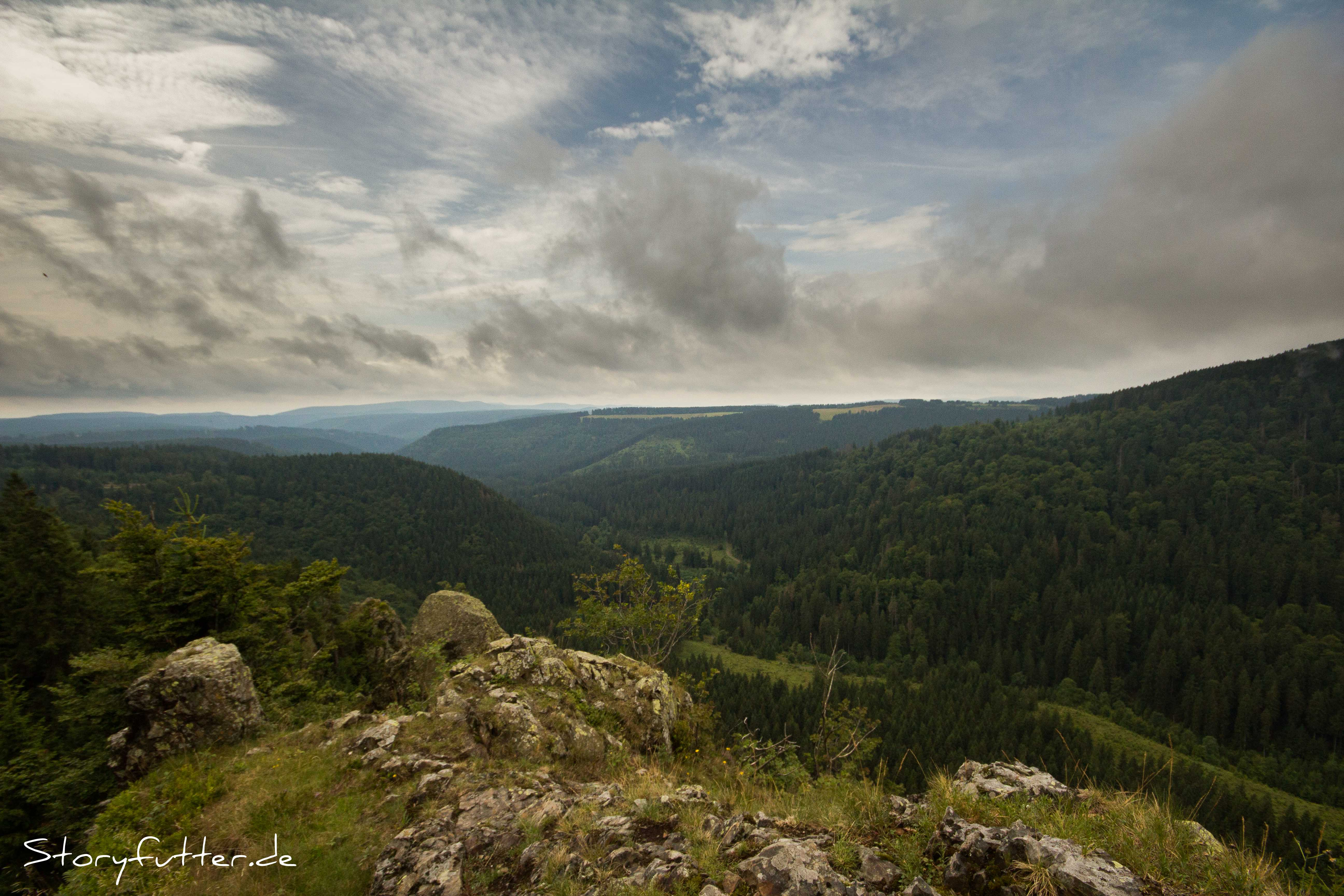 Aussichtsklippen Harz Backpacking Hahnenkleeklippen