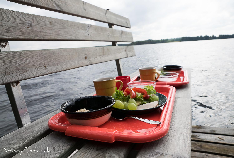 Lappland: Frühstück am See