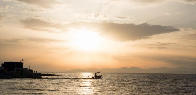 Postira Kroatien unter der Abendsonne