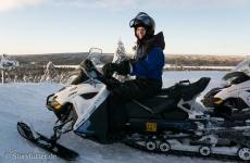 Lappland: Schneemobil