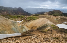 Islands Laugavegur: Regen im Anmarsch!