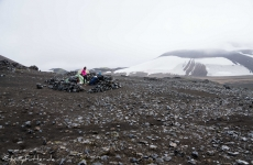 Islands Laugavegur: Steinringe bei Hrafntinnusker