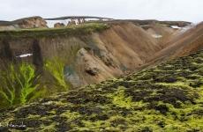 Islands Laugavegur: In Wasserrinnen wächst leuchtendes Moos!